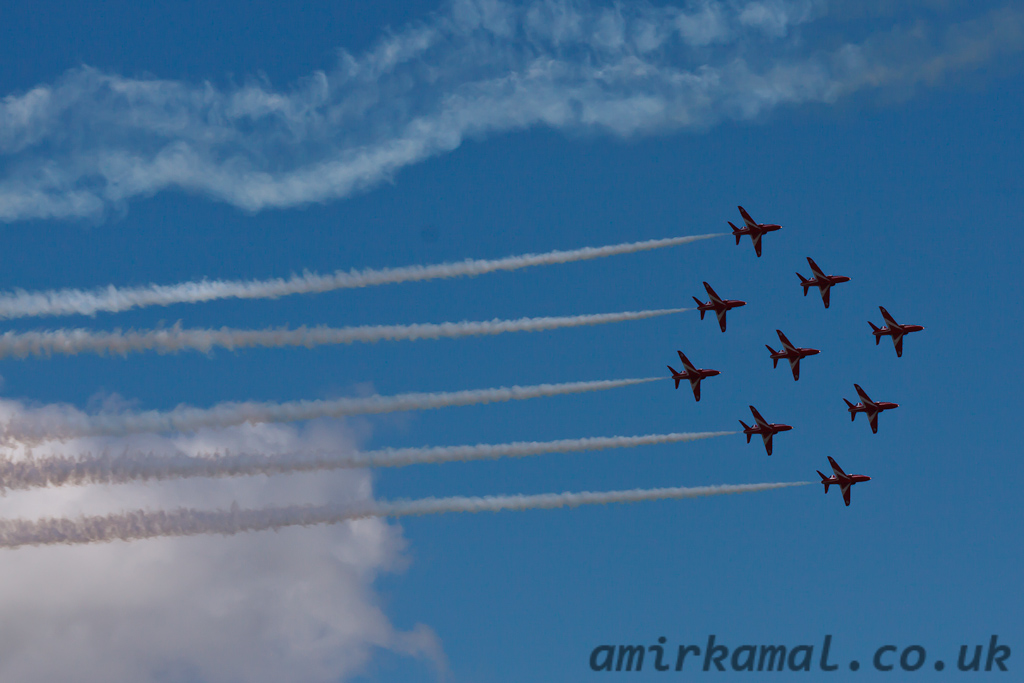 Sunday, Red Arrows Air display