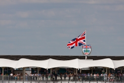 Union Jack over the BRDC Stand