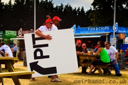 McLaren fans liberating a Pit-In sign