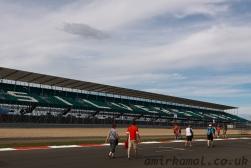 Deserted startline grandstand