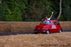 Ferrari support team head beack down the hill