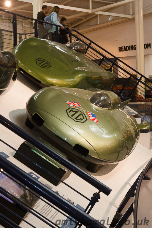 MG speed record cars, f-b: EX181 (1957), Ex179 (1954)