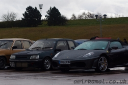 Ferrari F360 and Turbo Diesel (really!?) 205 Track car