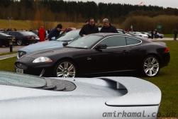 Jaguar XK over rear wing of XJ220