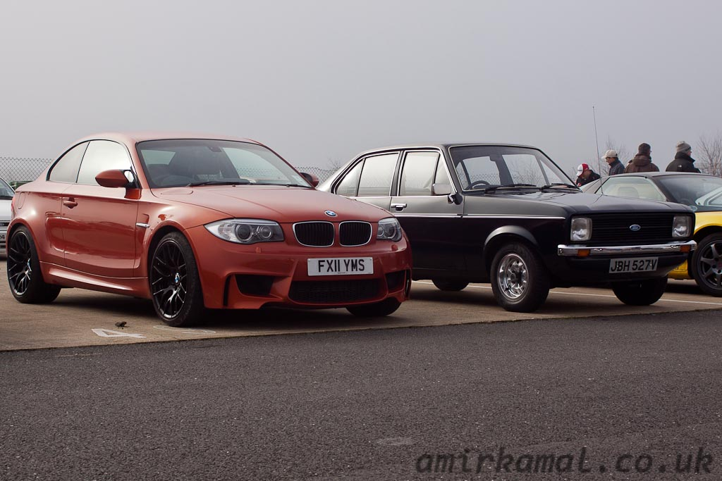 2011 BMW 1M and 1979 Ford Escort